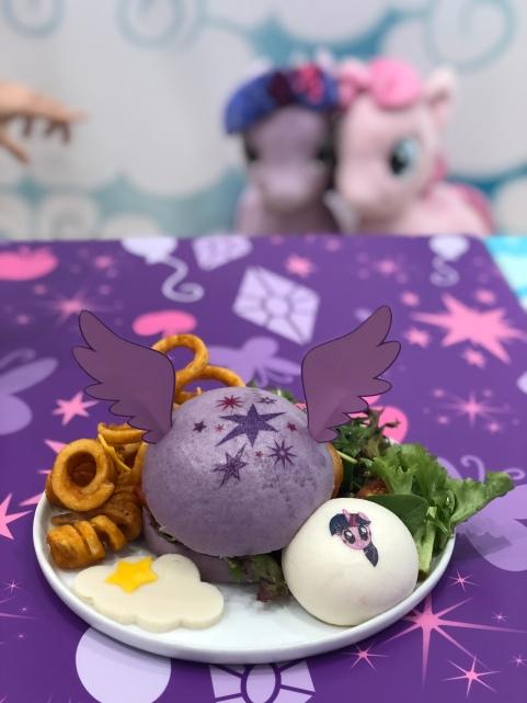 Twilight Sparkle Soaring Skies Chicken Katsu Burger ($22.90)