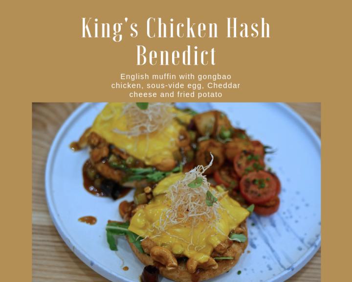 King's Chicken Hash Benedict
