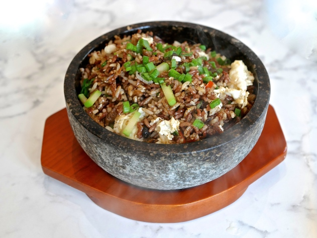 Fried Brown Rice with Black Dace Fish & Egg White ($15.80)