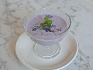 Purple Sweet Potato & Taro with Coconut Milk, Gum Tragacanth & Sago ($5.80)