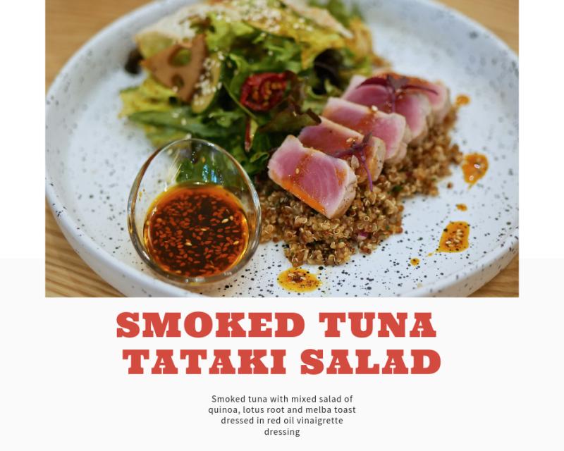 Smoked Tuna Tataki Salad