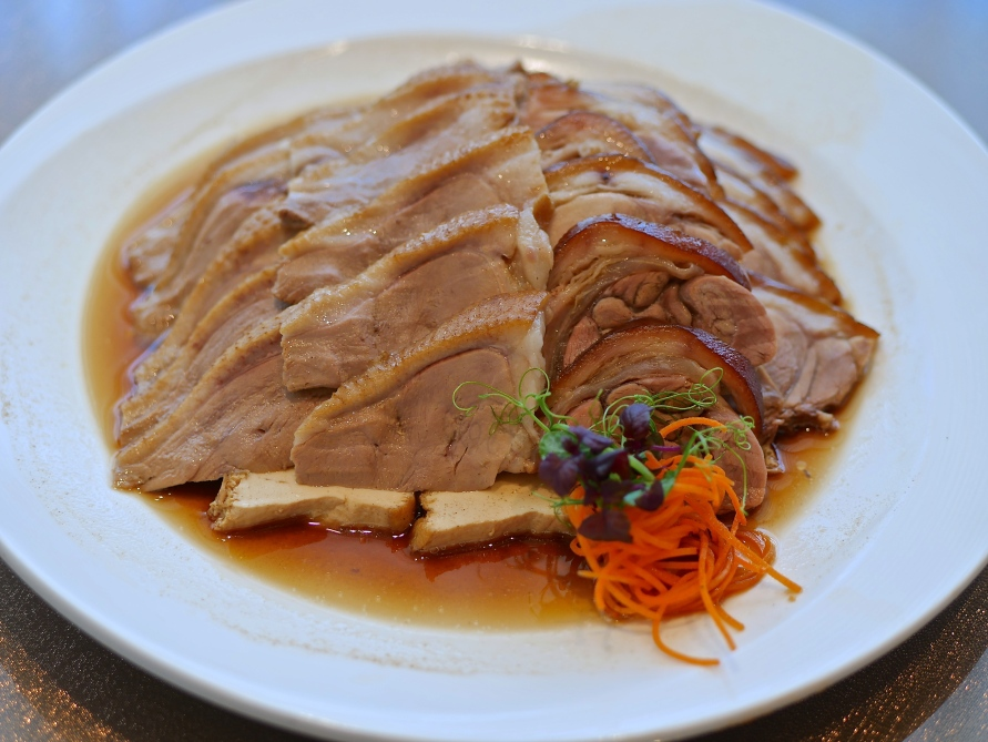 Teochew Style Braised Duo Combination Platter ($26) - Sliced Irish Fat Duck, Sliced Pork Knuckle