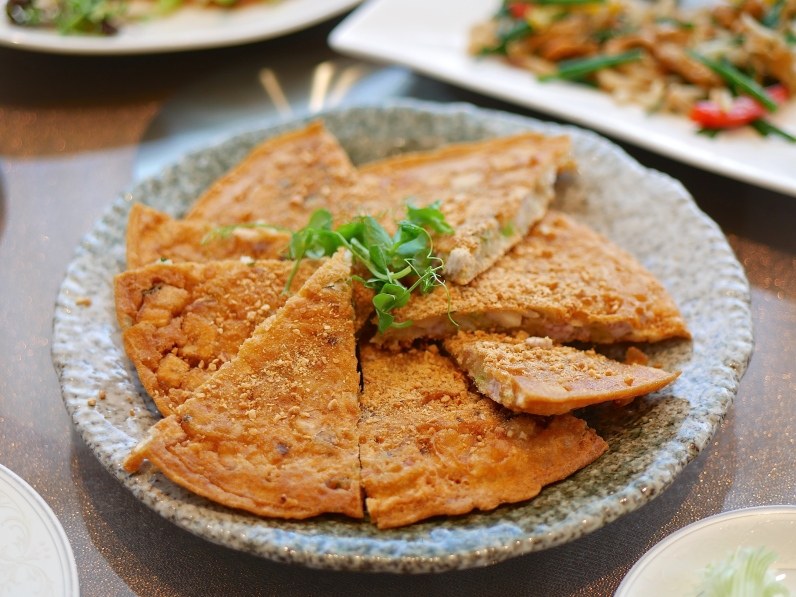 Teochew Pan-fried Seafood and Yam Pancake ($24)