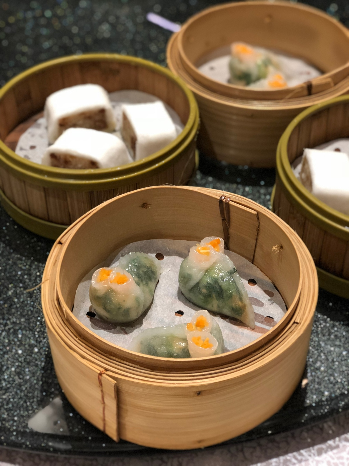 Steamed Fresh Prawn Spinach Dumpling