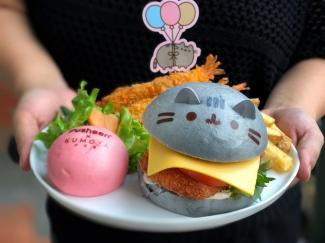 Pusheen In-A-Bun Ebi Burger ($19.90)