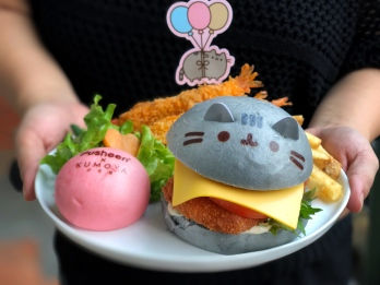 Pusheen In-A-Bun Ebi Burger ($19.90)