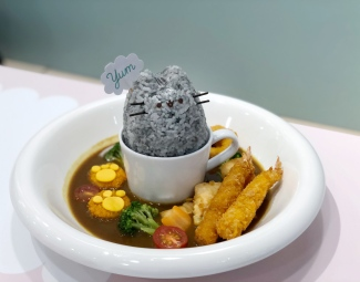 Pusheen Floating Fun Japanese Seafood Curry Rice ($23.90)