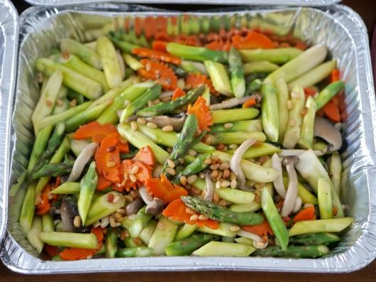 Sauteed asparagus & spring mushrooms