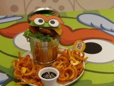 Oscar's teriyaki chicken katsu burger ($24.90)