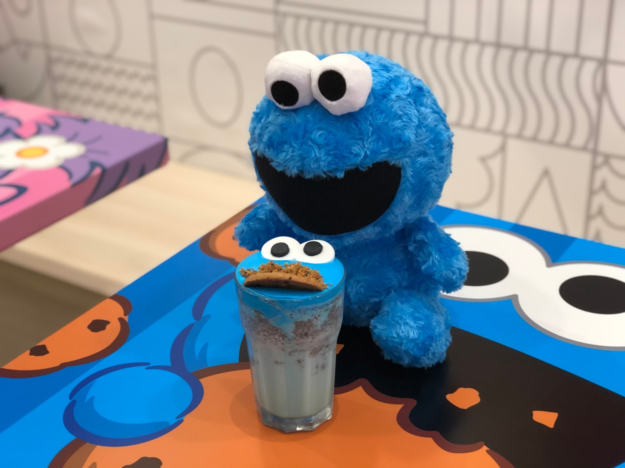 Cookie Monster's cookies and cream frappe ($13.90)