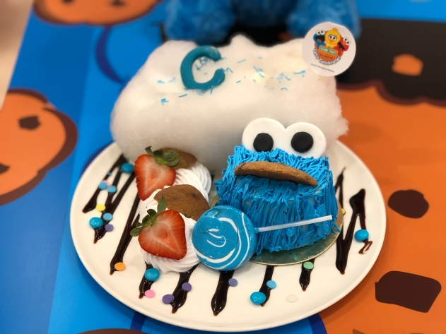Cookie Monster's double chocolate cake ($18.90)