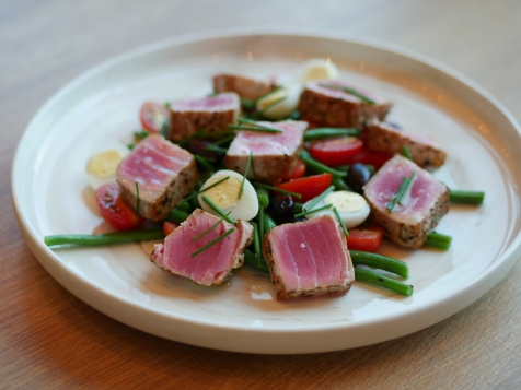 Tuna Nicoise with Green Beans, Olive, Citrus Dressing